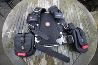 Dive Right twin blader wing & harness