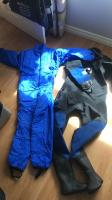 Ladies dry suit and under suit both with bags